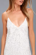 Force of Fashion White Backless Sequin Mini Dress 5