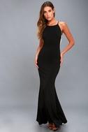 Romanticism Black Maxi Dress 2