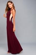 Romanticism Burgundy Maxi Dress 2