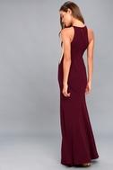 Romanticism Burgundy Maxi Dress 3