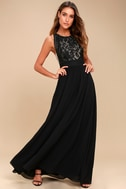 Forever and Always Black Lace Maxi Dress 2