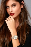 Ticking Clock Gold and Silver Mesh Watch 1
