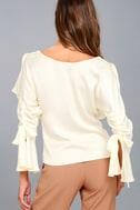 Fancy Flair Cream Long Sleeve Top 3
