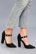 Nai Black Studded Heels 5