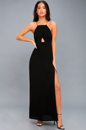 Sloan Black Backless Maxi Dress 1
