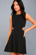 Toast to You Black Cutout Skater Dress 3