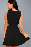 Toast to You Black Cutout Skater Dress 5
