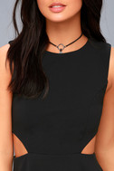 Toast to You Black Cutout Skater Dress 6