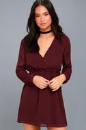 Indy Burgundy Long Sleeve Dress 2