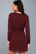 Indy Burgundy Long Sleeve Dress 5