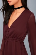 Indy Burgundy Long Sleeve Dress 3