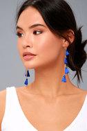 Vanessa Mooney Dynasty Blue Tassel Earrings 3