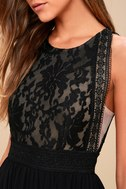 Forever and Always Black Lace Maxi Dress 4