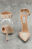 Diva Blush Suede Leather Lucite Heels 3