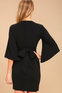 Glimpse of Glamour Black Bell Sleeve Bodycon Dress 3