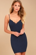 Secret Crush Navy Blue Lace Bodycon Dress 3