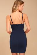 Secret Crush Navy Blue Lace Bodycon Dress 5