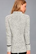 Foggy Night Black and White Turtleneck Sweater 3