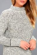 Foggy Night Black and White Turtleneck Sweater 4