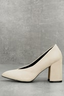 Lilah Oatmeal Suede Pumps 2