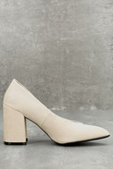Lilah Oatmeal Suede Pumps 3