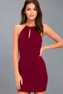 Ring My Bell Wine Red Halter Bodycon Dress 3