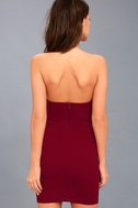Ring My Bell Wine Red Halter Bodycon Dress 4