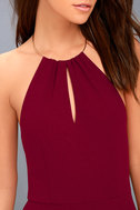 Ring My Bell Wine Red Halter Bodycon Dress 5