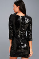 Pass the Champagne Black Sequin Bodycon Dress 4