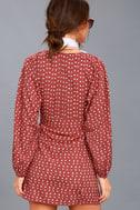 Arrowhead Rusty Rose Print Long Sleeve Dress 4