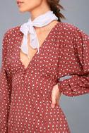 Arrowhead Rusty Rose Print Long Sleeve Dress 5