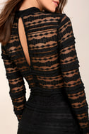 Reece Black Lace Long Sleeve Bodycon Dress 4