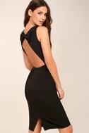 Be Mine Black Open Back Midi Dress 3