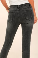Want You Back Washed Black Distressed Ankle Skinny Jeans 4