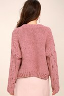 Beth Pink Cable Knit Sweater 4