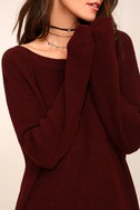 Just For You Burgundy Backless Sweater 4