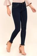 Dayley Dark Wash Skinny Jeans 3