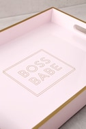 Boss Babe Gold and Blush Pink Lacquered Tray 2