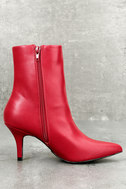 East Village Red Mid-Calf Boots 3