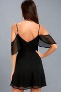Cosmopolitan Black Off-the-Shoulder Skater Dress 1