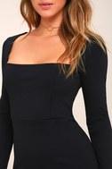 Play the Part Black Long Sleeve Bodycon Dress 4