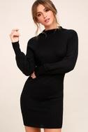 Burgess Black Mock Neck Sweater Dress 3