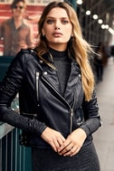 Ride Your Heart Out Black Vegan Leather Moto Jacket 5