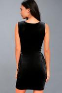 Capture My Attention Black Velvet Lace-Up Bodycon Dress 3