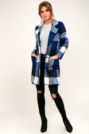 St. Cloud White and Blue Plaid Coat 1