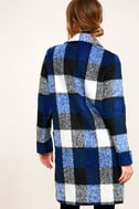 St. Cloud White and Blue Plaid Coat 3
