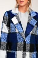 St. Cloud White and Blue Plaid Coat 4