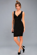 Watch for Curves Black Sleeveless Bodycon Midi Dress 1