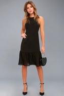 Modern Drama Black Sleeveless Midi Dress 2