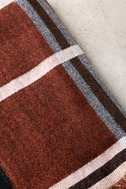 Prep School Brown and Red Plaid Scarf 3